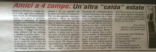 Articolo Dentro La Notizia del 12.06.15