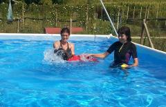 Luce prima volta in piscina