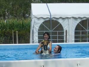 Tosca prima volta in piscina
